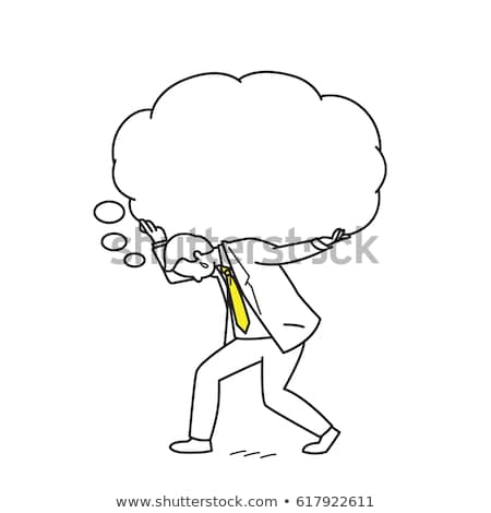 Businessman Thinking Much Vector Illustration Stock photo © robuart