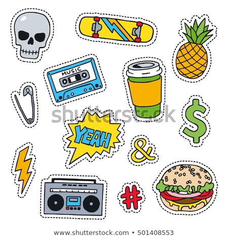 Rock Music Patches on Jacket Vector Illustration Stock photo © robuart
