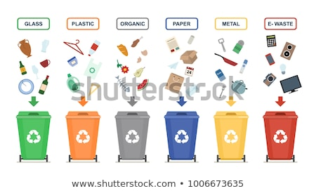 Waste Recycling Material Vector Illustration Stock photo © robuart