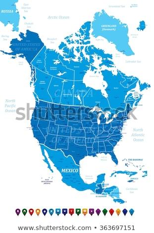 Alabama · mapa · EUA · geográfico · vermelho · cor - foto stock © kyryloff