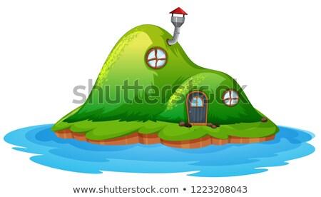 Enchanted fairy house on island Stock photo © colematt