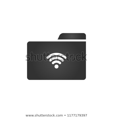 folder icon with wifi icon in trendy flat style isolated on white background for your web site desi stock photo © kyryloff