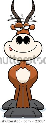 Dronken cartoon illustratie naar dier glimlachend Stockfoto © cthoman