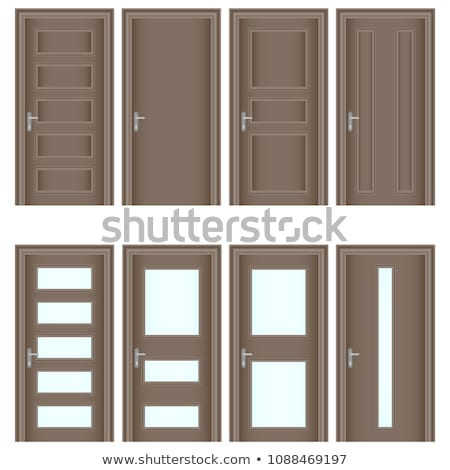 wooden door vector design element Stock photo © blaskorizov
