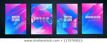 gradient fluid background vector minimal wallpaper cool brochure plastic spiral liquid design il stock photo © pikepicture