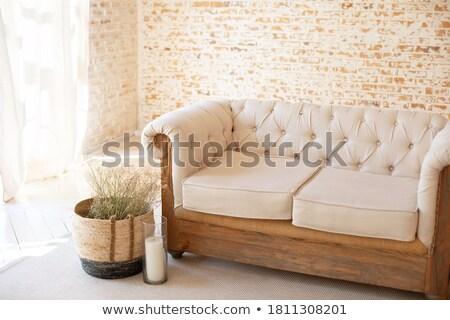 cesta · flores · de · primavera · silla · de · madera · hecho · a · mano · primavera · naturaleza - foto stock © ruslanshramko