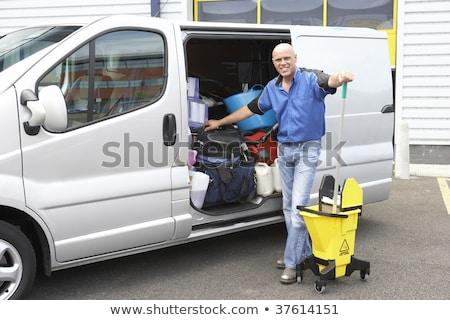 limpador · em · pé · tem · negócio · homem · trabalhando - foto stock © monkey_business