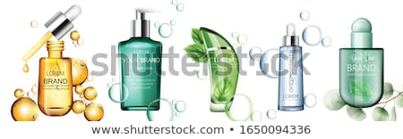 Cosmetic Bottle Ads Vector. Lotion, Gel. Premium Product. Promotion Element. Skin Care. 3D Mockup Re Stock photo © pikepicture