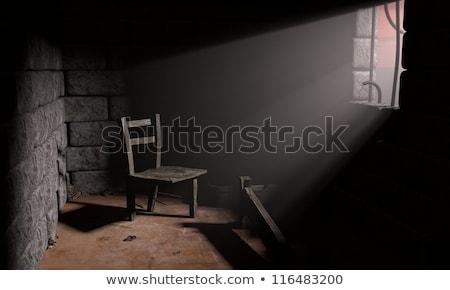 3D 囚人 戻る 実例 孤立した 白 ストックフォト © 3dmask