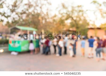 femme · alimentaire · camion · ingrédients · tortilla · pain - photo stock © kzenon