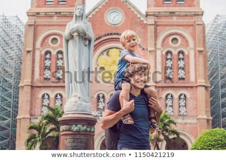大聖堂 ビルド 市 ベトナム 教会 ストックフォト © galitskaya