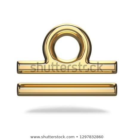 Golden zodiac sign LIBRA 3D Stock photo © djmilic