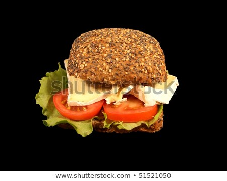 Teljeskiőrlésű kenyér friss zöldség tojások étel egészség Stock fotó © Peteer