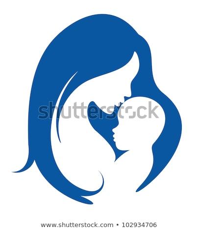 Mãe bebê cuidar amor maternidade conjunto Foto stock © robuart