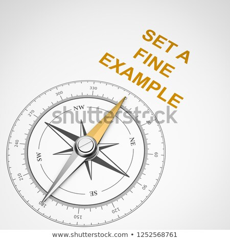 Compass on White Background, Set a Fine Example Concept Stock photo © make