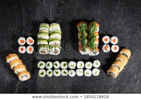 Różny japoński świeże przygotowany sushi Zdjęcia stock © dash