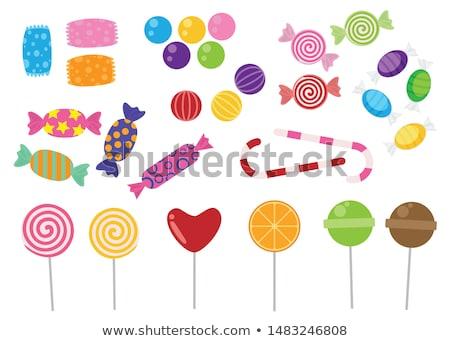 Sweet · полосатый · конфеты · тростник · белый - Сток-фото © netkov1