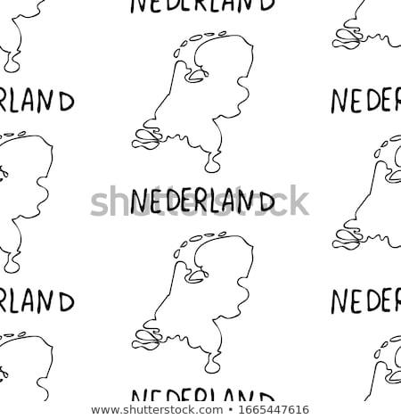 オランダ · シンボル · 旅行 · セット · ヨーロッパ - ストックフォト © netkov1