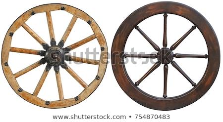 アンティーク 木製 大砲 画像 空 金属 ストックフォト © cteconsulting