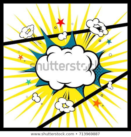 Geel explosie komische wolk pop art retro Stockfoto © studiostoks