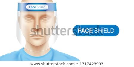 pajzs · felirat · szerzői · jog · fehér · izolált · 3D - stock fotó © iserg
