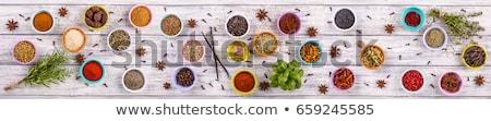 Petrezselyem piros chili feketebors fehér felső Stock fotó © furmanphoto