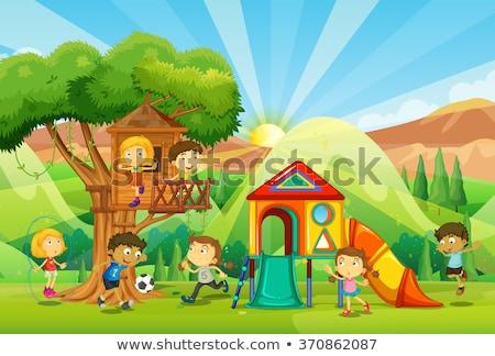 子供 演奏 子 風景 ホーム 背景 ストックフォト © colematt