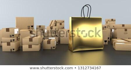 vásár · bevásárlószatyor · vásárló · mutat · 50 · felirat - stock fotó © limbi007