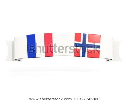 Banner with two square flags of France and norway Stock photo © MikhailMishchenko
