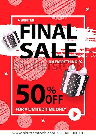 50 por ciento final venta todo Foto stock © robuart