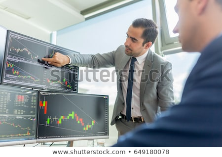 Affaires parler bourse commerce ligne analyse Photo stock © snowing