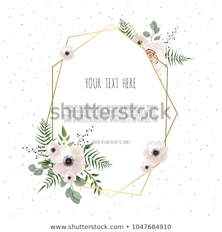 Roses delicate wreath frame watercolor Vector. Wedding invitation card. Save the date. Spring summer Stock photo © frimufilms