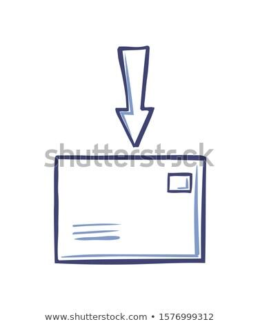 Boríték nyíl felső mutat levél ikonok Stock fotó © robuart