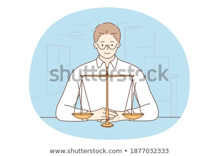 Businessman finds the equilibrium Stock photo © 6kor3dos