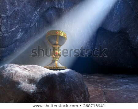 Holy Grail Cup Gold Chalice Goblet Stock photo © Krisdog