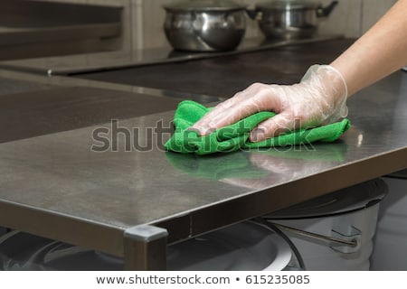 Janitors Cleaning Kitchen Stock photo © AndreyPopov