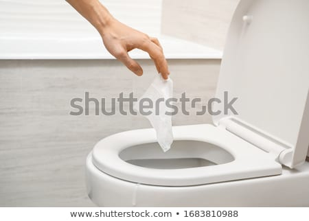Toilet Paper Inside The Toilet Bowl Stock photo © AndreyPopov