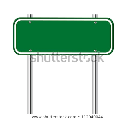 Green Blank Street Sign Isolated White Background Stock photo © cammep