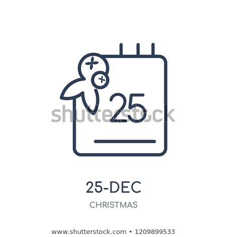 Merry Christmas card Vector lineart. Christmas background decora Stock photo © frimufilms