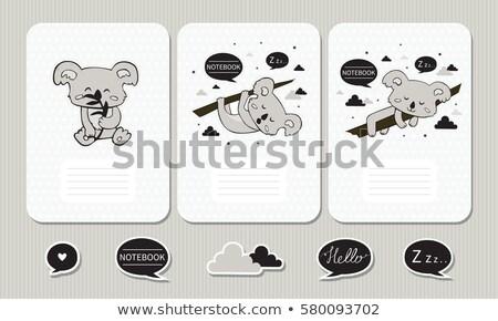 koala on note template stock photo © bluering