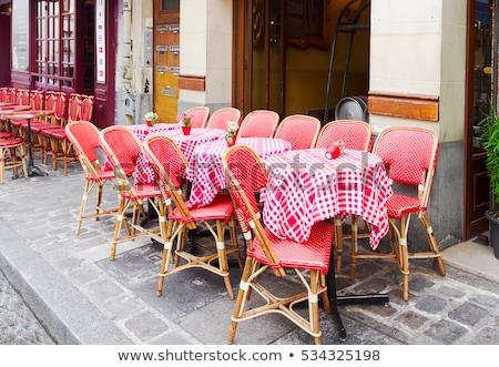 カフェ パリ フランス 表示 ロマンチックな パリジャン ストックフォト © neirfy
