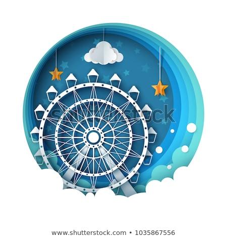 Amusement Park, Ferris Wheel and Carousel Nature Stock photo © robuart