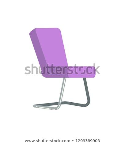 mor · ofis · koltuğu · ikon · renkli · dizayn · stil - stok fotoğraf © robuart