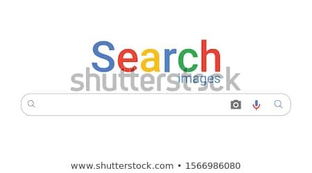 Egyszerű keresőmotor vektor ikon vonal nagyító Stock fotó © WaD