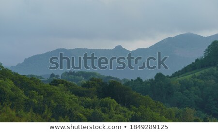 summer storm and rain on mountains in spain stock photo © diego_cervo