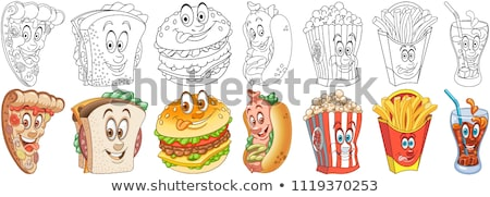 french fry color picture sticker Stock photo © netkov1