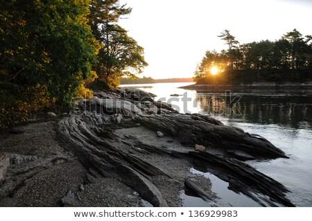 メイン州 夏 日の出 ビーチ 太陽 ストックフォト © jsnover