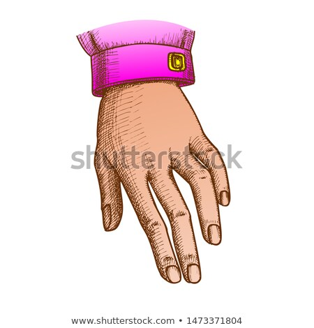Farbe Mädchen Zeichen Tinte Stock foto © pikepicture