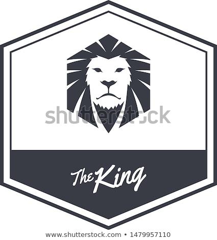 king lion endangered species logo sign vector stock photo © vector1st