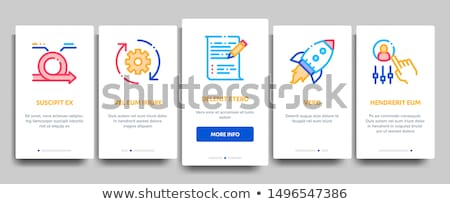 Agilis elemek vektor mobil app oldal Stock fotó © pikepicture